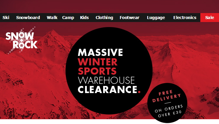 Snow & Rock Winter Clearance