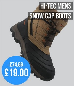 Mens Snow Cap Boots