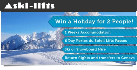 Win A Skiing Holiday for 2 With Ski-Lifts
