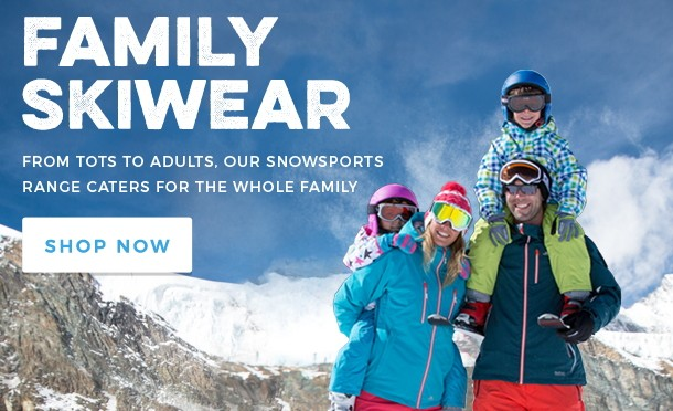 Family Skiwear from Trespass