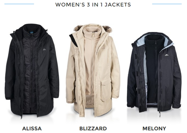 Womens 3 in 1 Waterproof Jacket