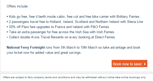 Direct Ferries Offers