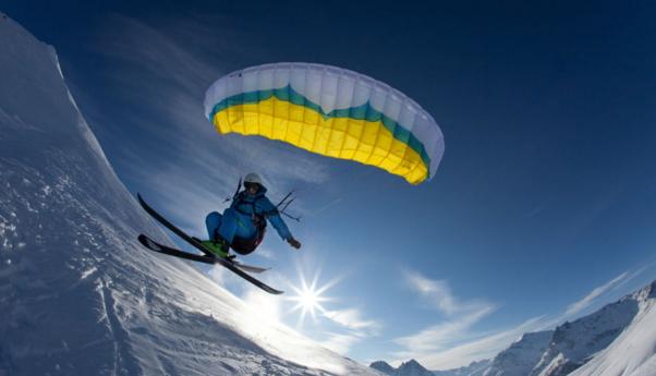 Speedriding in The Alps, Chamonix.