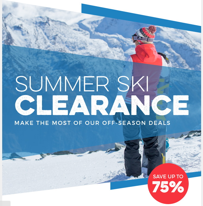 Trespass Summer Ski Clearance