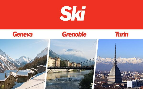 Winter Ski Flights from Jet2 to Geneva, Grenoble and Turin.