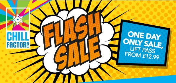 Chill Factore Flash Sale from £12.99 per hour!