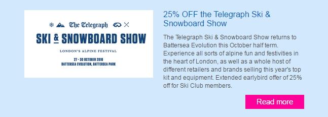 Ski & Snowboard Show Offers