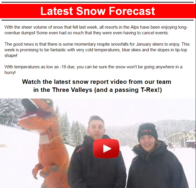 Alpine Elements Snow Forecast